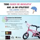 Campanya solidària de BTT Tàrrega per cedir cascs de bicicleta a infants i joves del Servei d'Intervenció Sòcioeducativa (SIS)