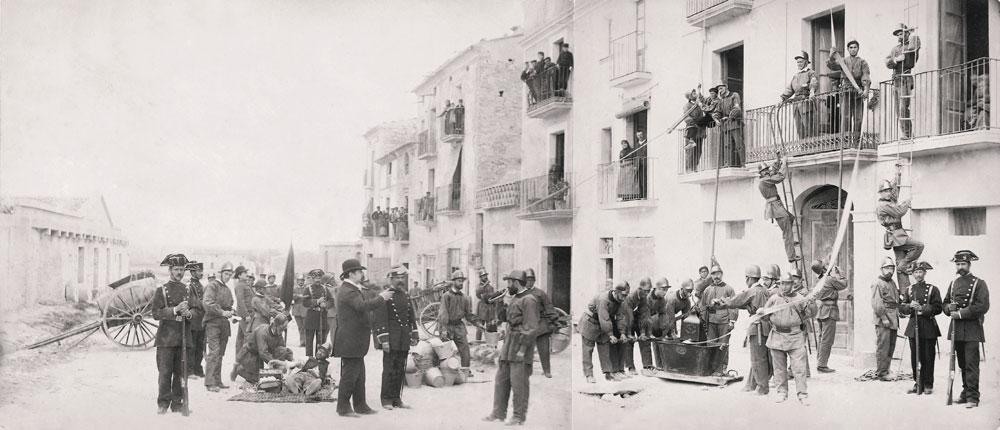Bombers a l'avinguda Catalunya